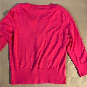 Express Sweaters - Pink 3/4 sleeve Cardigan